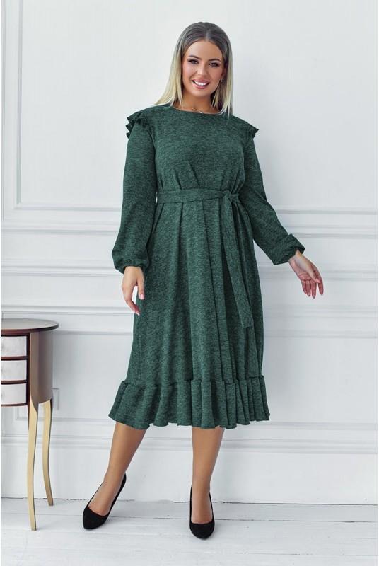 теплое платье, платье с воланами